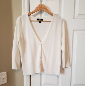 Mossimo Cream Button Front Sweater Ladies Large